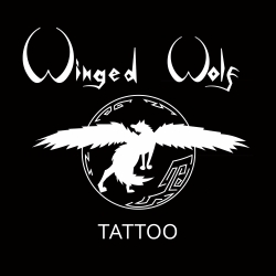 Winged Wolf Tattoo